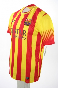 best service e95f9 51d1b Nike FC Barcelona jersey 4 Cesc Fabregas 2013/14 Qatar away yellow red  men's M