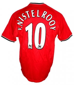 Umbro Manchester United jersey 10 Ruud van Nistelrooy 2000/02 Vodafone home men's M or L (B-Stock)
