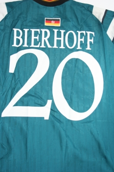 Adidas Germany jersey 20 Oliver Bierhoff 1996 Euro 96 Match worn Away men's XL