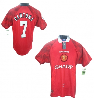 23ee665654b Umbro Manchester United jersey 7 Eric Cantona 1996 97 home red sharp men s  L or