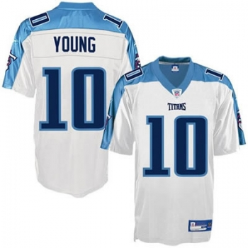 pretty nice 08f26 fa4bf Reebok Tennessee Titans jersey 10 Vince Young NFL white men's XL