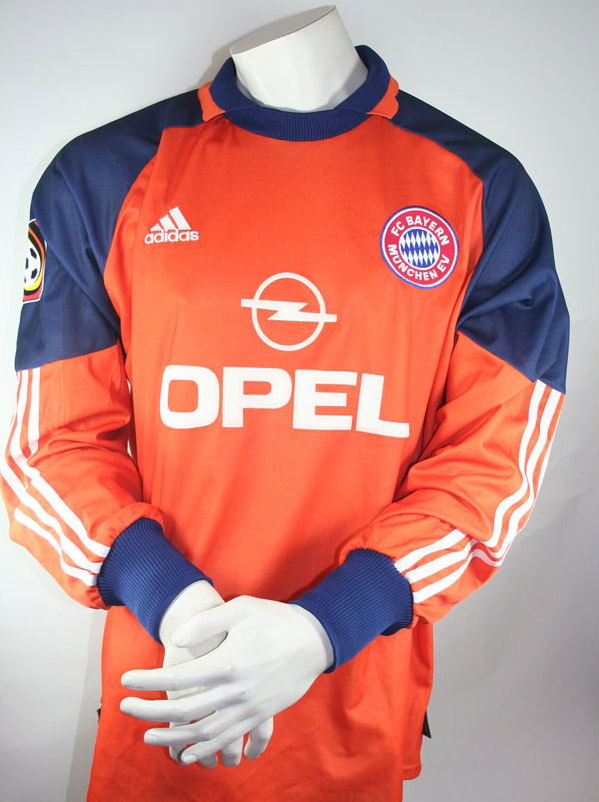 adidas fc bayern m nchen trikot torwart 1 oliver kahn 2000 01 hose cl orange xs s g nstig. Black Bedroom Furniture Sets. Home Design Ideas