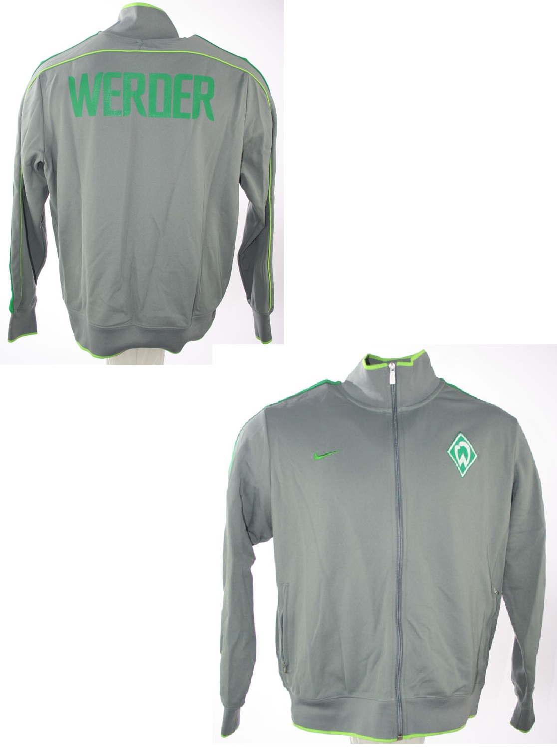 nike sv werder bremen jacke teamwear heim gr n herren s m. Black Bedroom Furniture Sets. Home Design Ideas