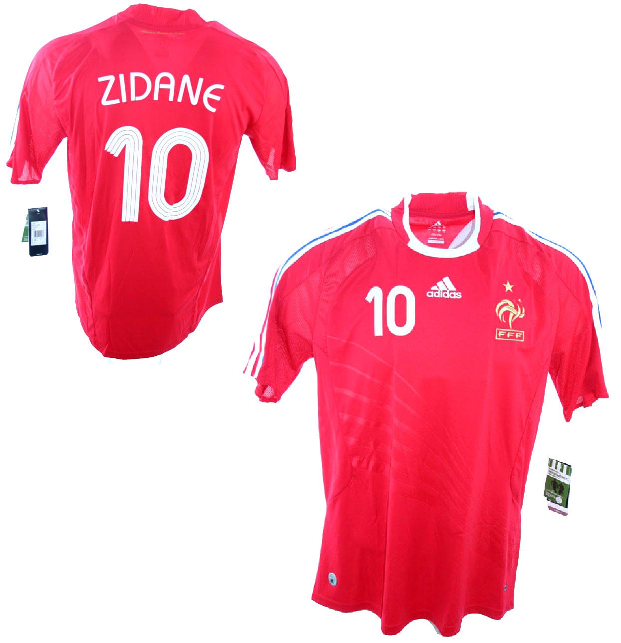 4eea0364a63 Adidas France jersey 10 Zinedine Zidane WC 2006 red new men s XS S M ...