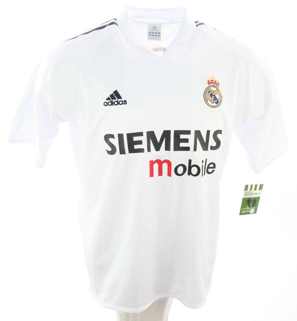 new concept 27cbb 66aa0 Adidas Real Madrid Jersey 7 Raul 2004/05 Siemens Mobile home ...