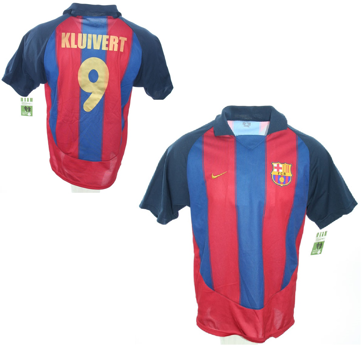 Nike FC Barcelona jersey 9 Patrick Kluivert 2003 04 home men