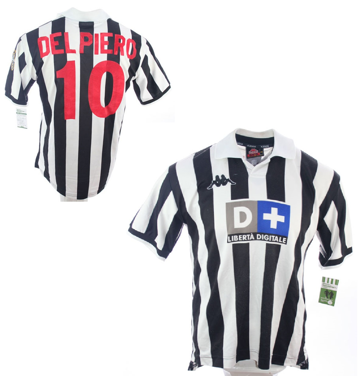 new products 71a9e a39ef Kappa Juventus Turin Jersey 10 Alessandro Del Piero 1998 ...