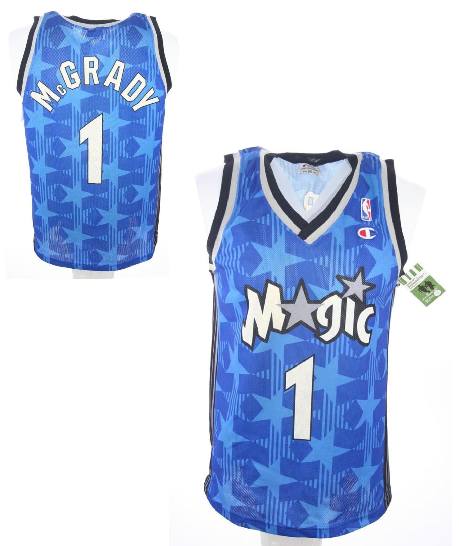 new concept 968a5 15e6d Champion Orlando Magic Jersey 1 Tracy Mcgrady swingman NBA ...