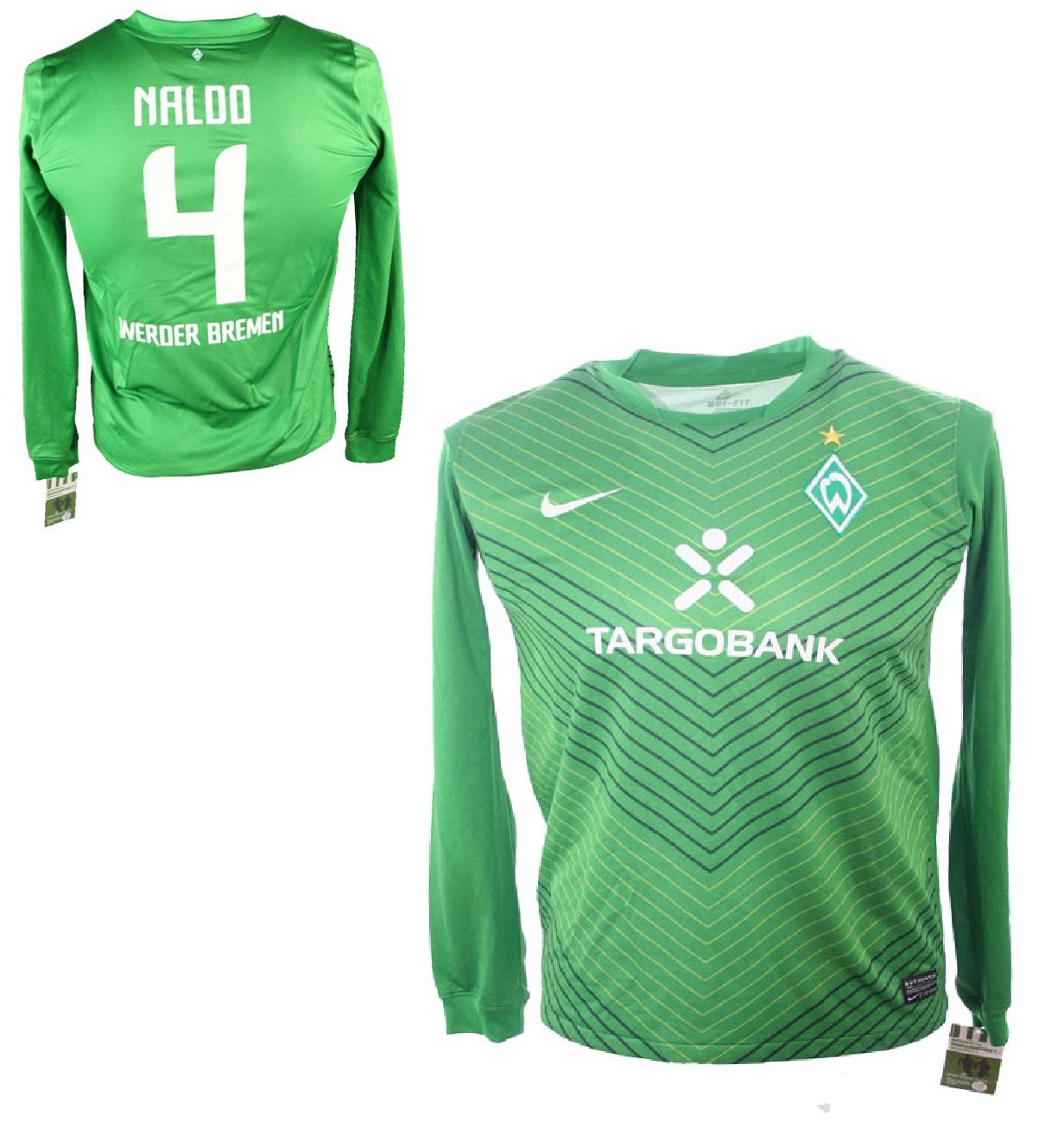 665dfd56c5b30 Nike SV Werder Bremen jersey 4 Naldo 2011/12 green home men's S-M 176cm
