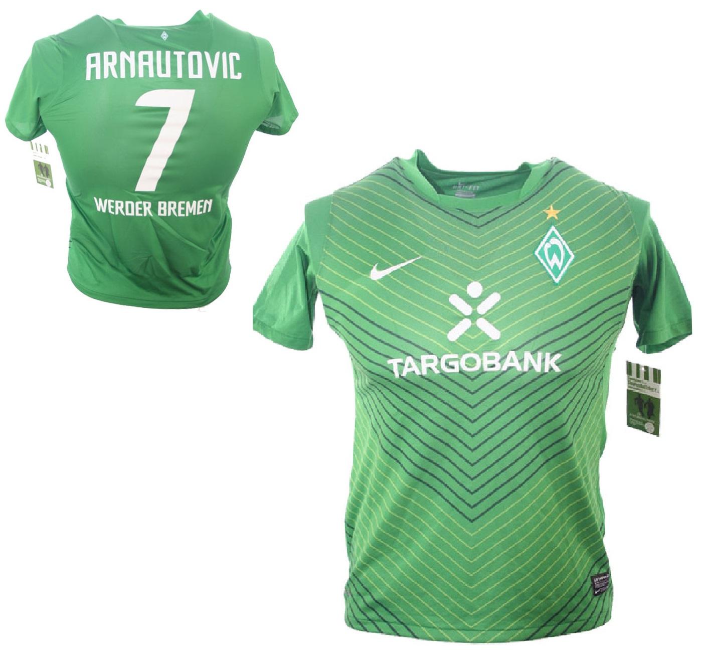 a2203f221a783 Nike SV Werder Bremen jersey 7 Marko Arnautovic 2011/12 green home men's  S-M 164cm