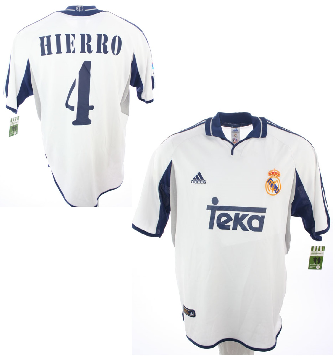 best loved 18d16 85fa8 Adidas Real Madrid Jersey 4 Fernando Hierro 2000/01 home ...