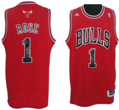 buy popular 66002 3ef81 Adidas Chicago Bulls jersey 1 Derrick Rose home red Swingman ...