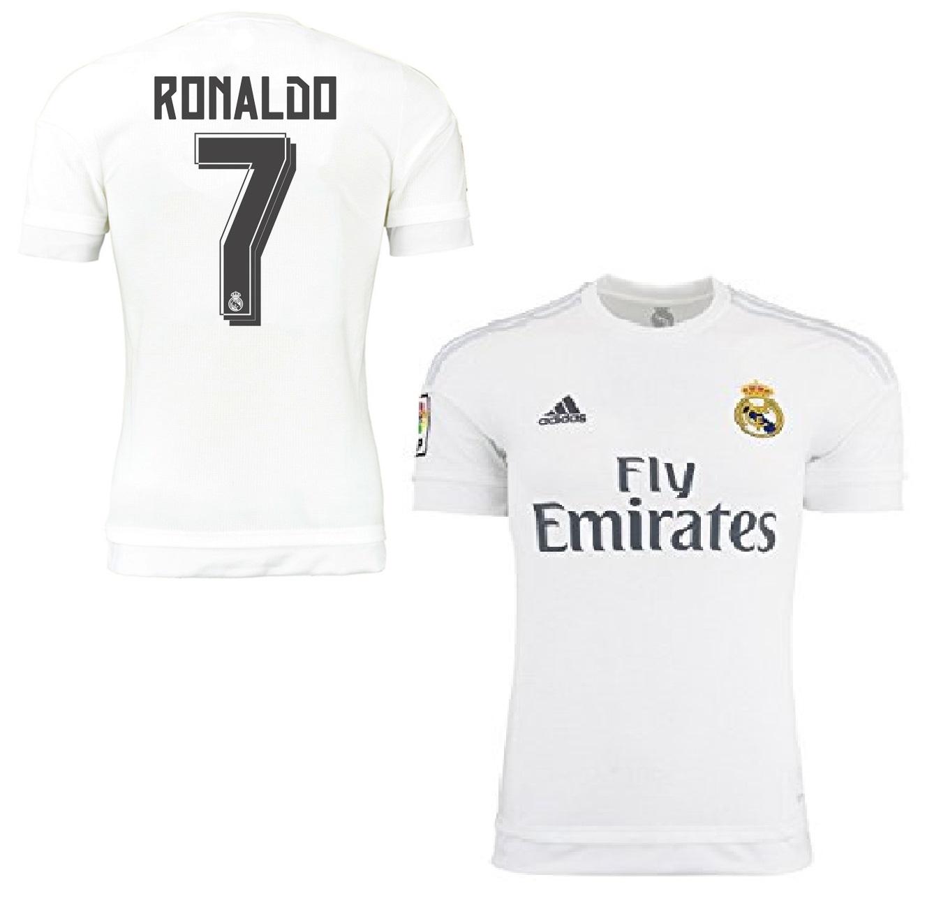 3079f2d3b Adidas Real Madrid jersey 7 Ronaldo 2015/16 Emirates home white men's M or