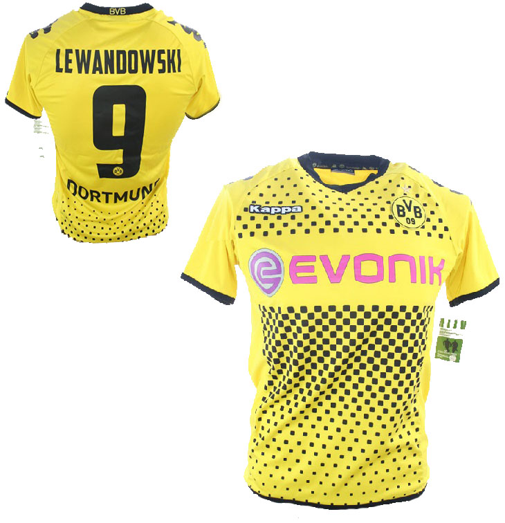 online store adade f1640 Kappa Borussia Dortmund jersey 9 Robert Lewandowski 2011 ...