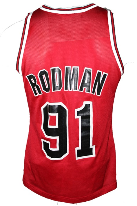 info for cf452 96ecf Champion Chicago Bulls jersey 91 Dennis Rodman red ...