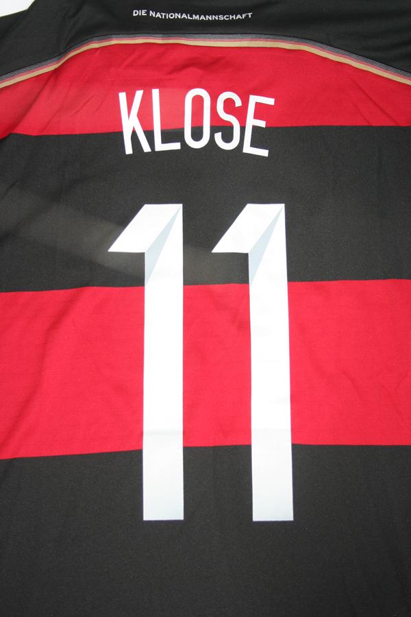 06df3eed247 Adidas Germany Jersey 11 Miroslav Klose World Cup 201 black4 red away men s  M