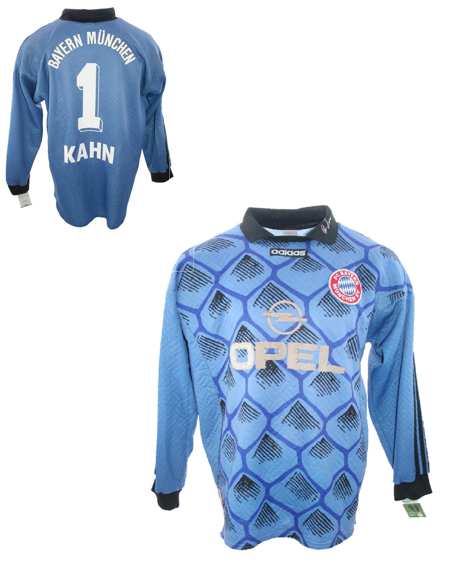 separation shoes 4d66b 7ff9d Adidas FC Bayern Munich Goalkeeper Jersey 1 Oliver Kahn 1997 ...