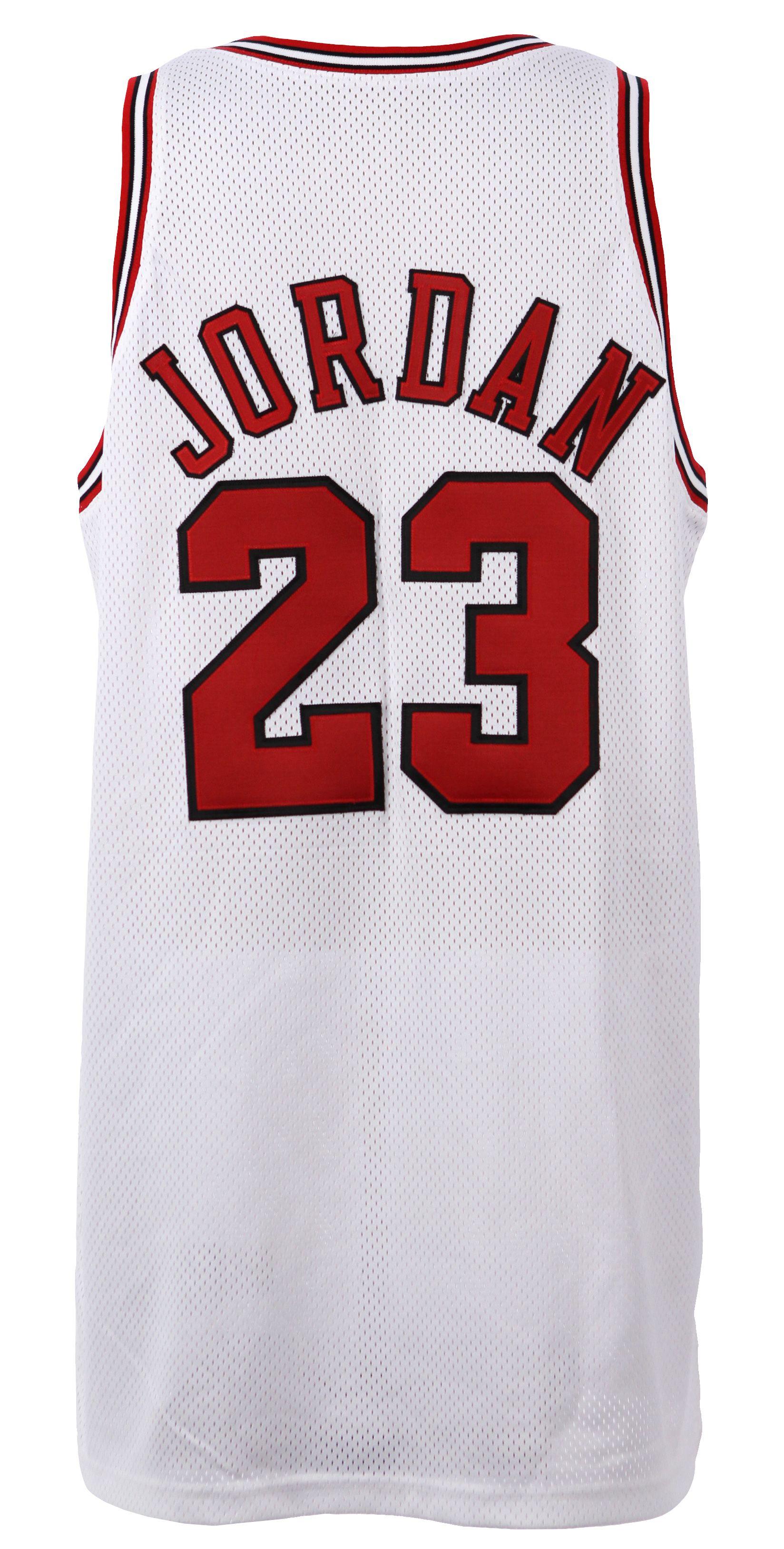 huge discount 47620 44ca5 Champion Chicago Bulls jersey 23 Michael Jordan white NBA ...
