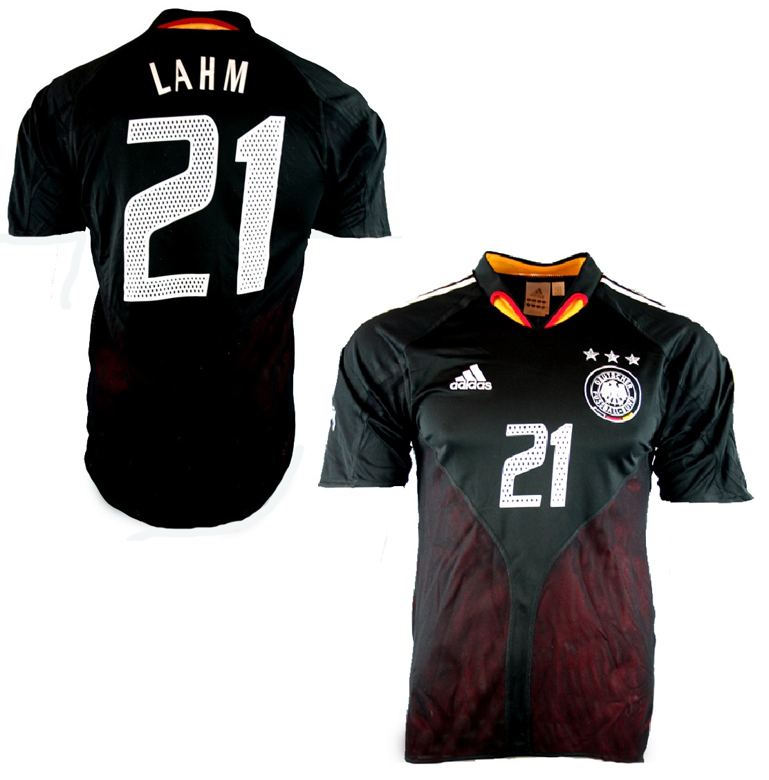 reputable site 7f3bb a02c2 Adidas Germany jersey 21 Philipp Lahm Euro 2004 black men's ...