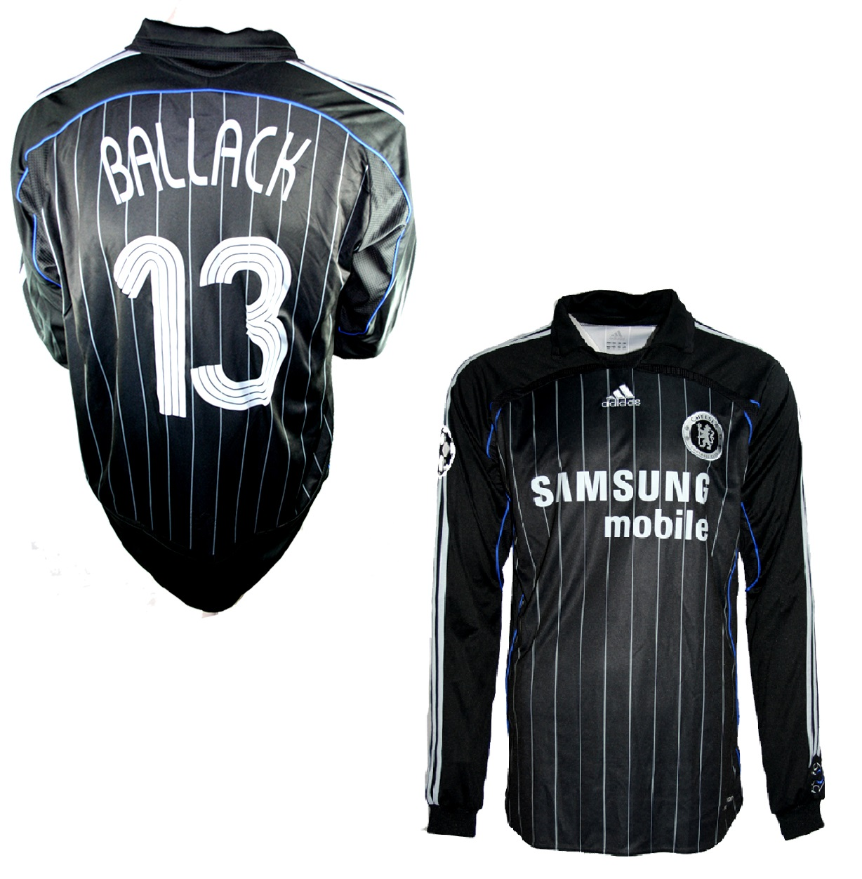the latest 941fd 26659 Adidas FC Chelsea London jersey 13 Michael Ballack 2006/07 ...