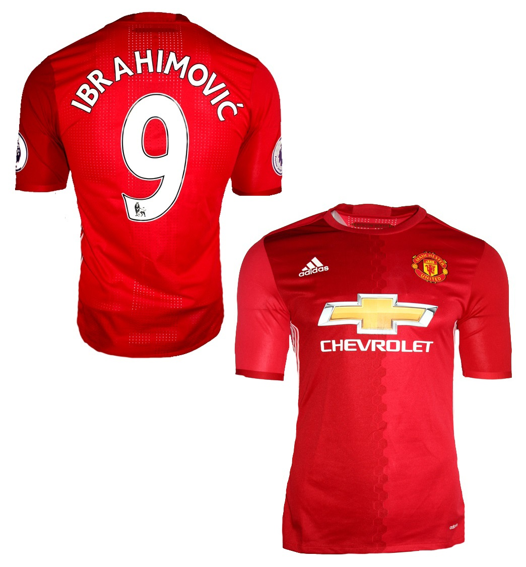 hot sales 9350f 1c567 Adidas Manchester United jersey 9 Zlatan Ibrahimovic 2016/17 ...