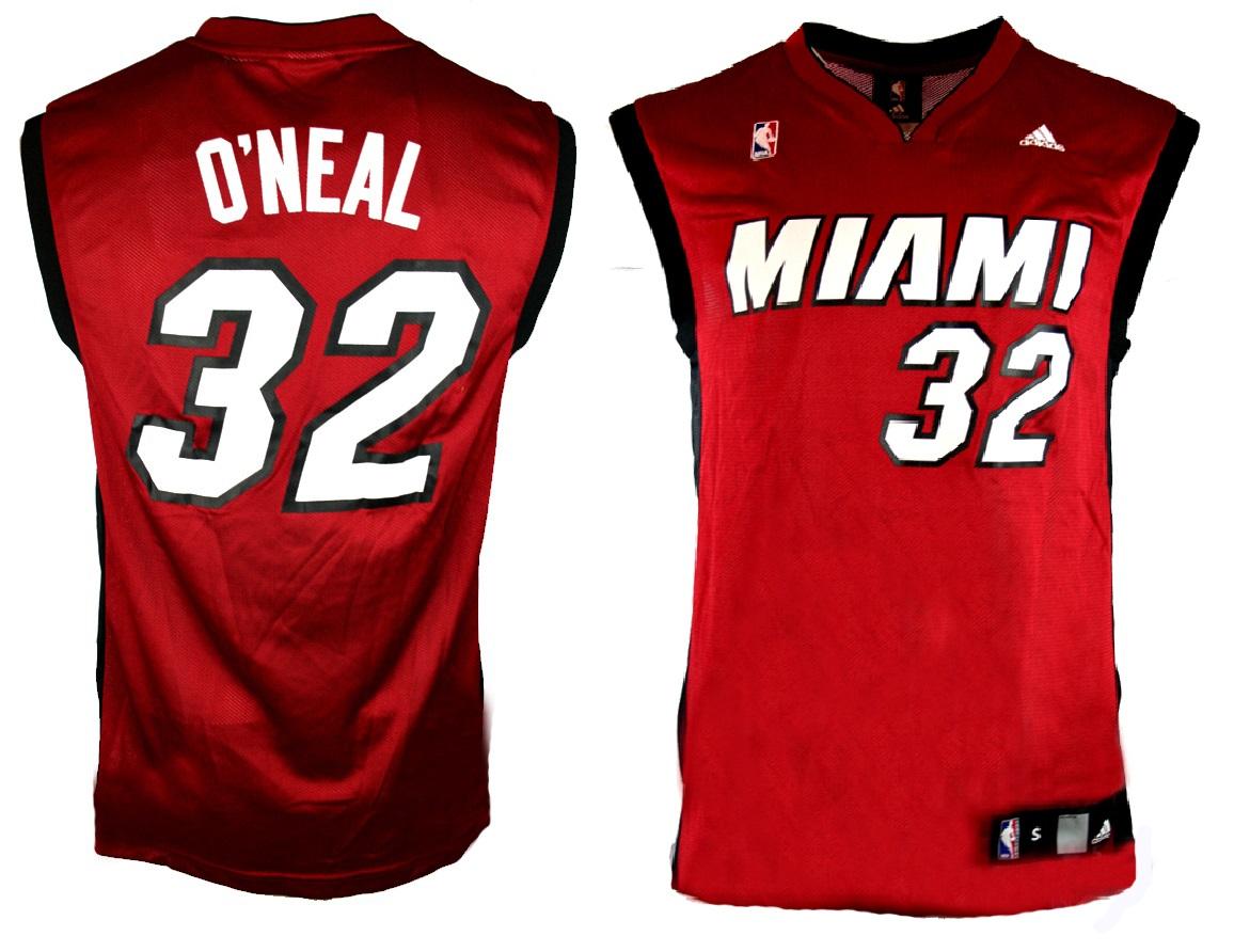 pretty nice 968c5 c5727 Adidas Miami Heat Jersey 32 Shaquille O'Neal NBA Swingman ...