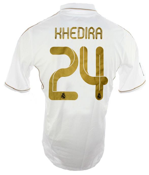 huge discount 9df4e dbaca Adidas Real Madrid jersey 24 Sami Khedira 2011/12 Bwin white ...