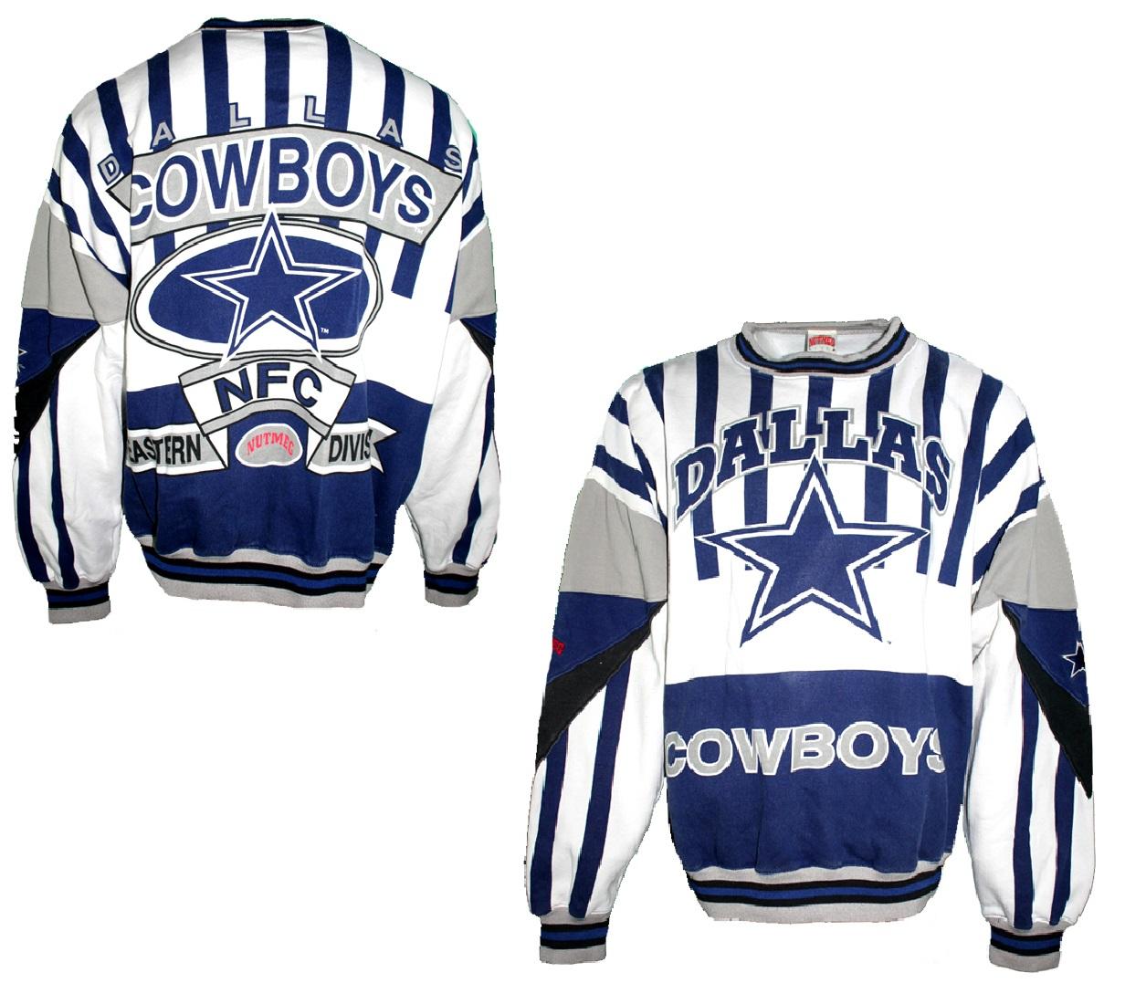 detailed look 1a330 3bfdd Nutmeg Dallas Cowboys Sweatshirt NFL American Football men's ...