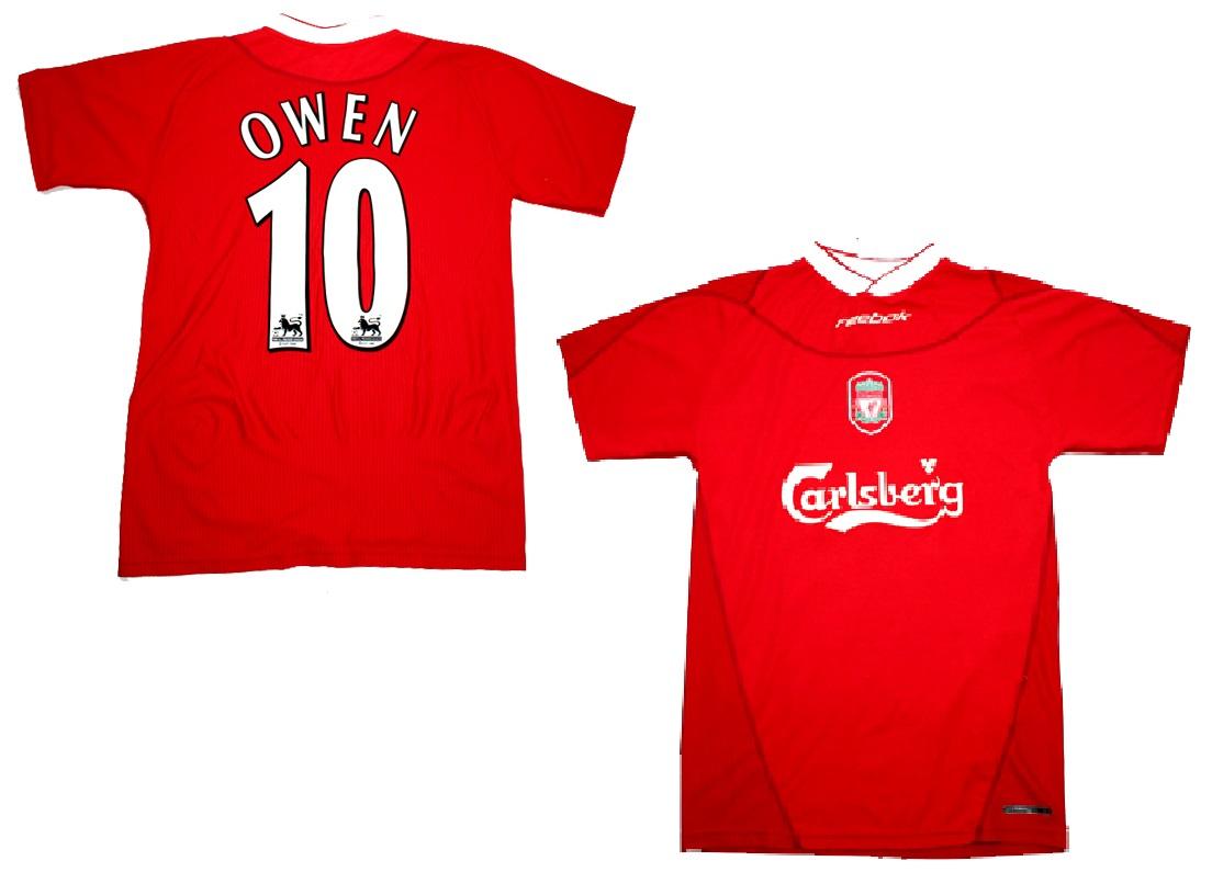 online store 82261 5d10d Reebok FC Liverpool jersey 10 Michael Owen 2002-04 Carlsberg ...