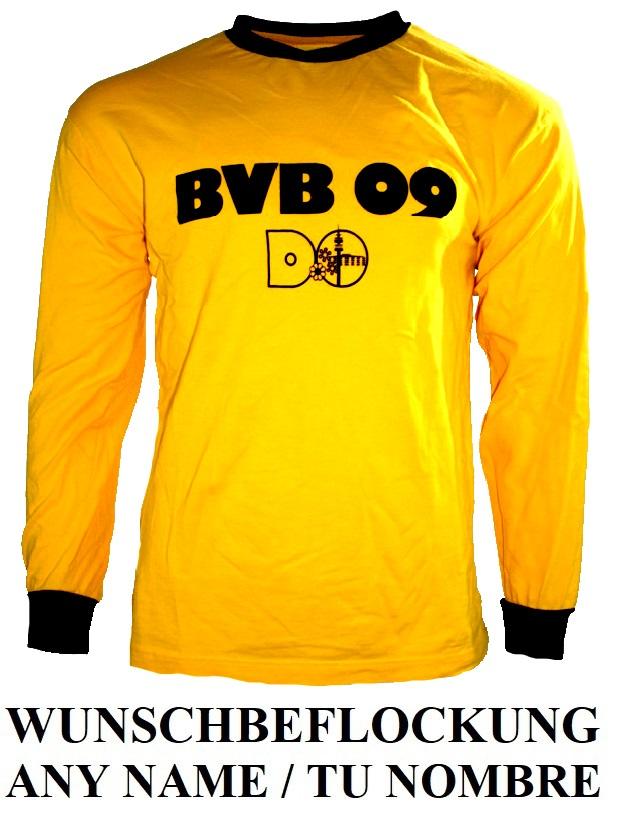 promo code 812fb 7e944 Retro Borussia Dortmund jersey 1975/76 BVB09 home longsleeve ...