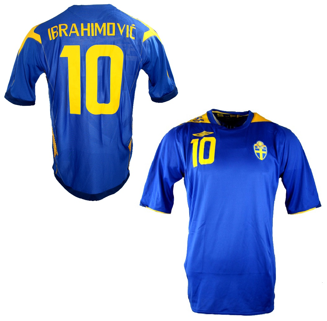 detailed look 22b80 e8b6a Umbro Sweden jersey 10 Zlatan Ibrahimovic Euro 2008 away ...