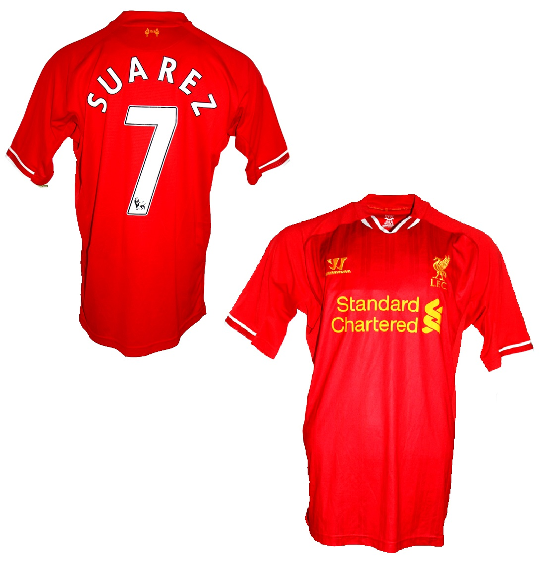 finest selection 07b70 c3731 Warrior FC Liverpool jersey 7 Luis Suárez 2013/14 home red ...