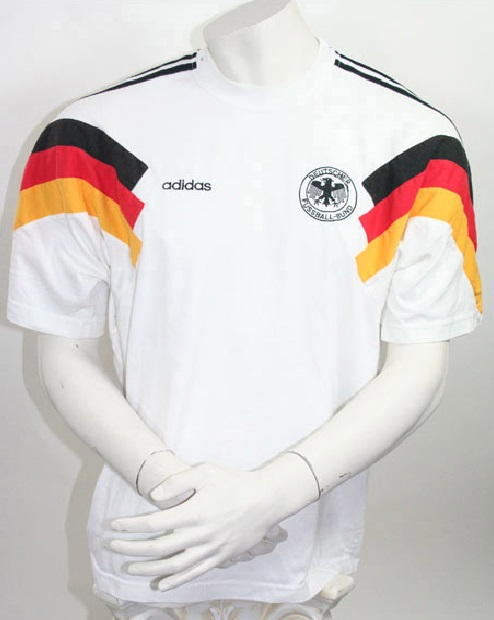 low priced 47bd6 40037 Adidas Germany DfB jersey T-Shirt 1990 World Cup 90 Euro 1992 home men's  S-M 176cm