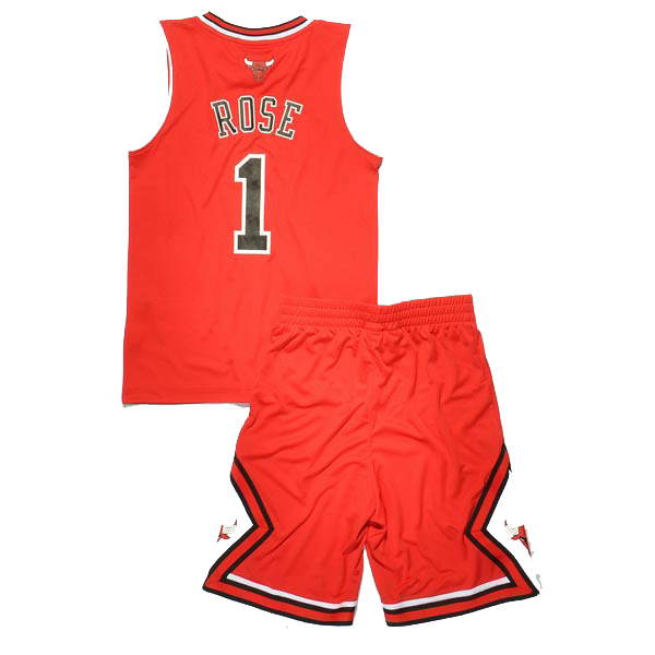 buy popular ccbbf ff6fb Adidas Chicago Bulls jersey 1 Derrick Rose home red Swingman ...