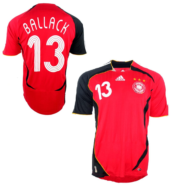 734b2c4f1f4c0 Adidas Deutschland Trikot 13 Michael Ballack WM 2006 Away Rot DFB Herren  M XXL