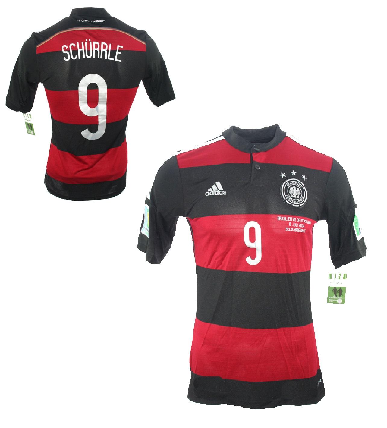 2de7f09d63f91 Adidas Deutschland Trikot 9 Andre Schürrle WM 2014 Away DFB Patches Herren S