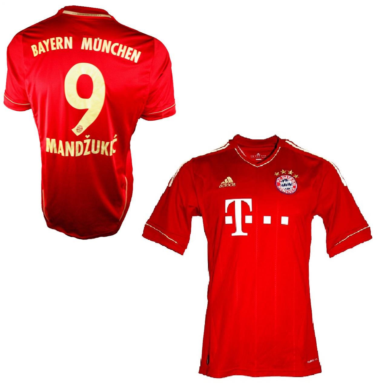 outlet store 7be0c f6726 Adidas FC Bayern Munich jersey 9 Mario Mandzukic 2012/13 ...