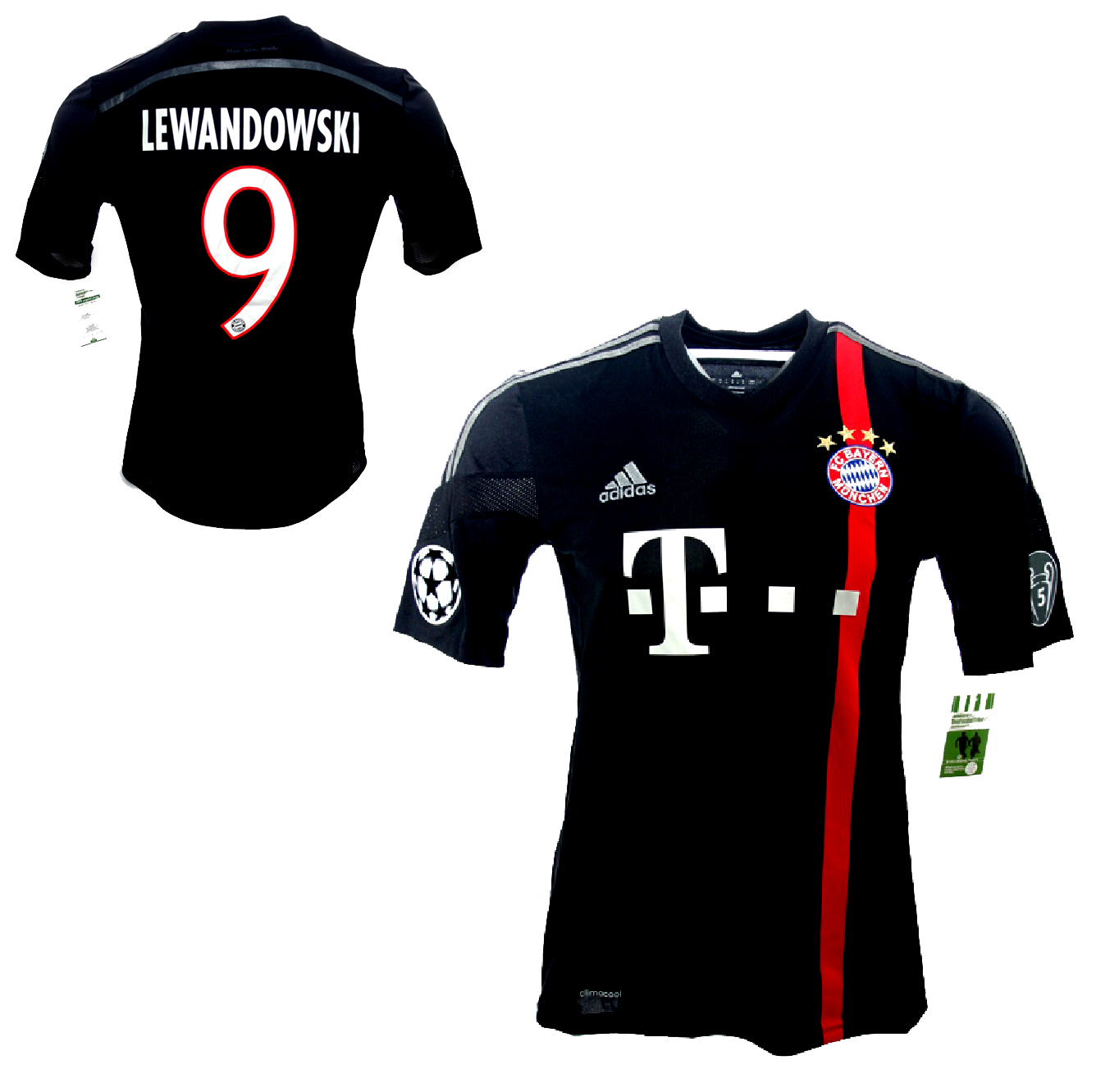 108045ab4 Adidas FC Bayern Munich Jersey 9 Robert Lewandowski 2014 15 3rd away ...