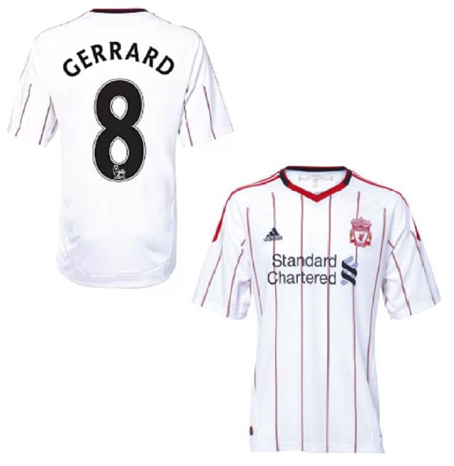 best service 8be3d 92c8b Adidas FC Liverpool jersey 8 Steven Gerrard 2010/11 away ...