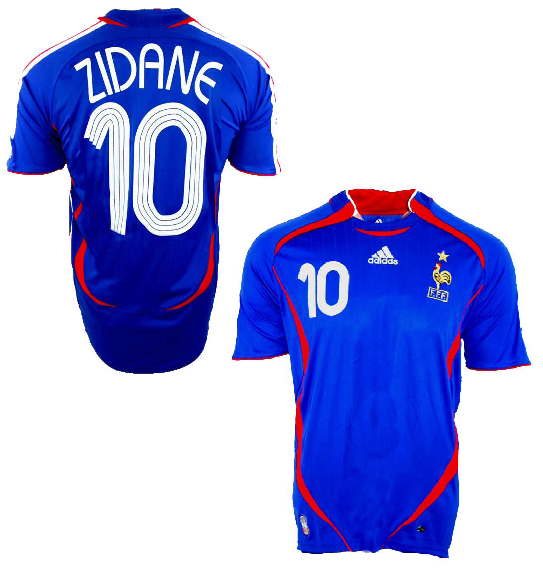 Adidas France jersey 10 Zinedine Zidane WC 2006 Mens XS S M L XL XXL ... 946ac523a
