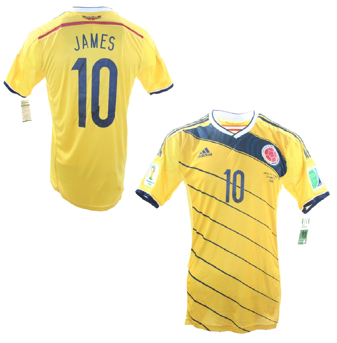 new style 66163 6566f Adidas Columbia Jersey 10 James Rodriguez WC 2014 Home ...