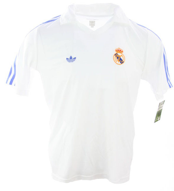 eea499175 Adidas Real Madrid jersey Retro 80 s 1980 Adidas Originals home white men s  M or L