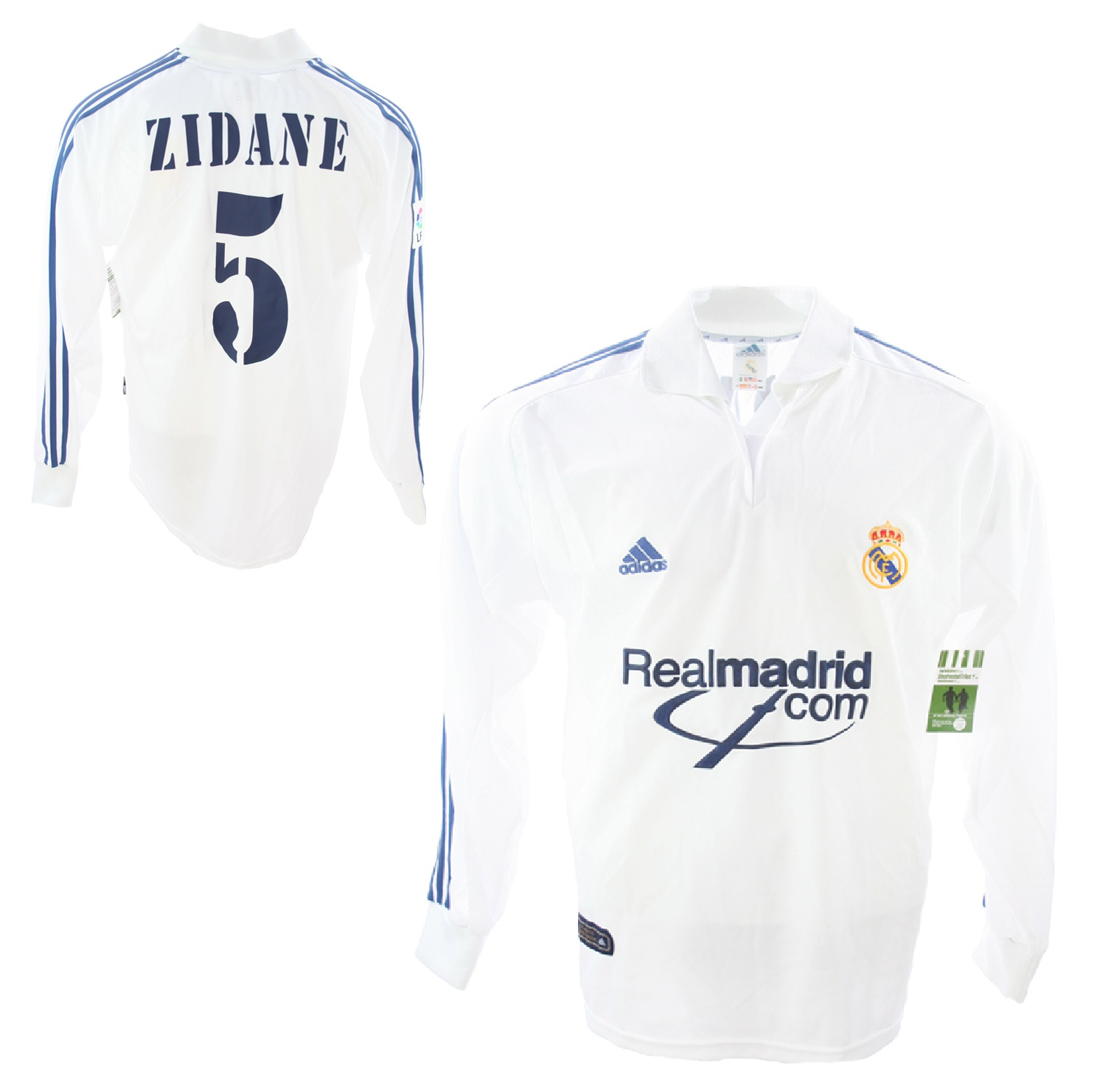 premium selection 9a138 a6d99 Adidas Real Madrid jersey 5 Zinedine Zidane 2001/02 home ...