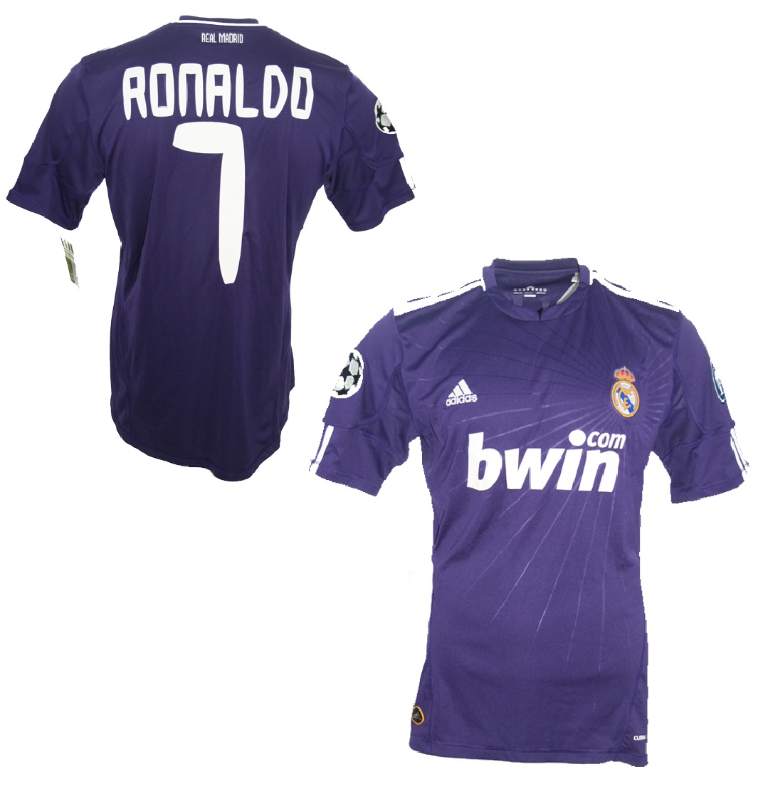 5a92ea5688f Adidas Real Madrid jersey 7 Cristiano Ronaldo 2010 11 Bwin away navy blue  men s lage
