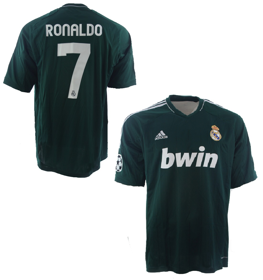 99b12dd88 Adidas Real Madrid jersey 7 Cristiano Ronaldo 2012 13 new bwin away men s M  or