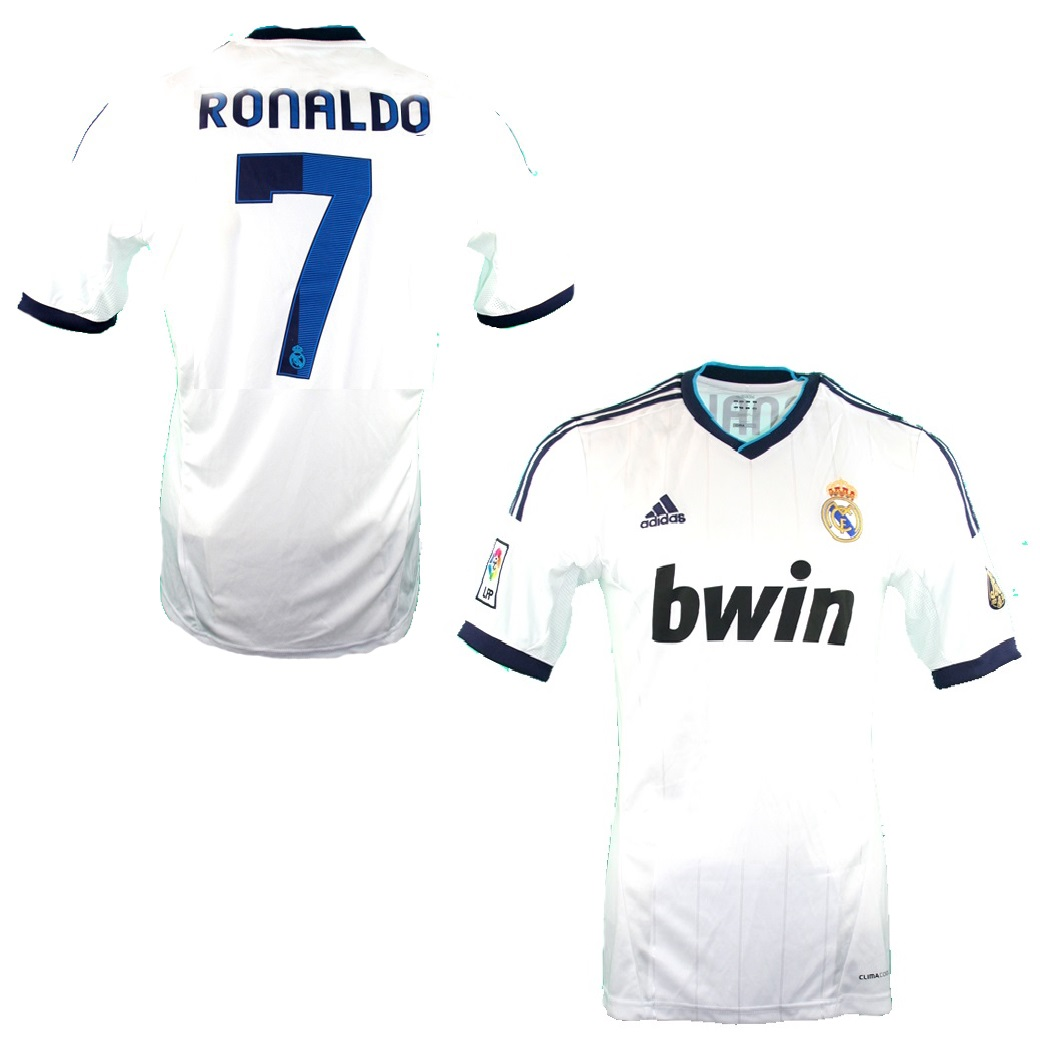 sports shoes 0945b e03bd Adidas Real Madrid jersey 7 Cristiano Ronaldo 2012/13 home ...