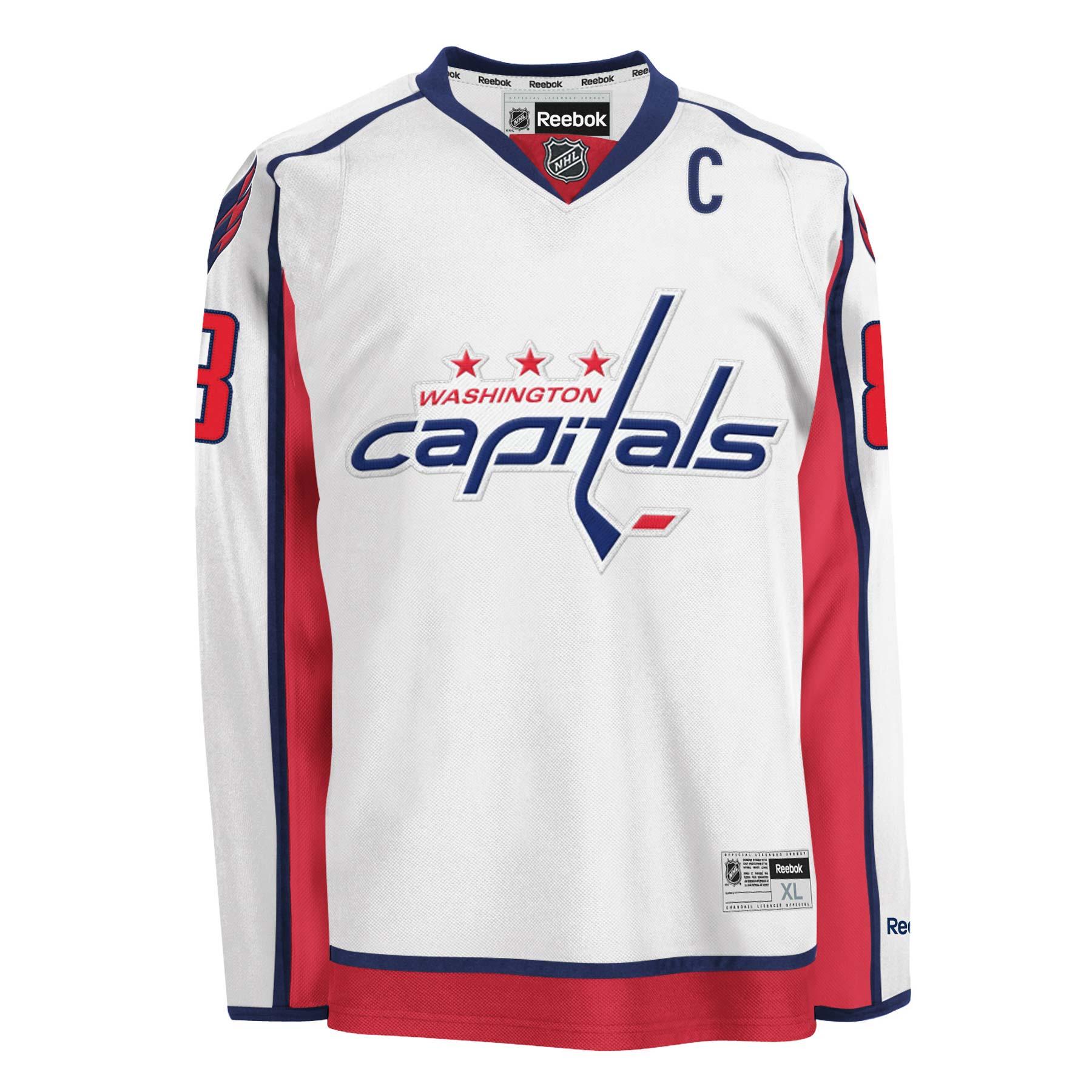 new product dc18a 0ec3e Reebok Washington Capitals jersey 8 Alexander Ovechkin hockey NHL men's XL