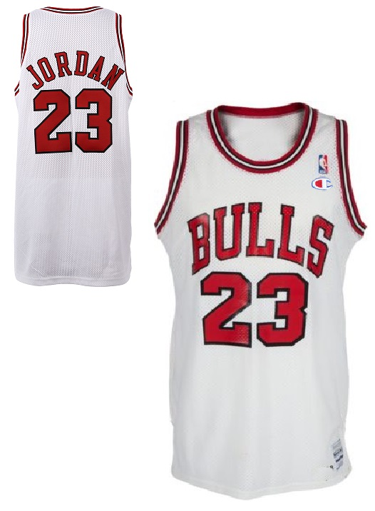ab232c8e3 Champion Chicago Bulls jersey 23 Michael Jordan white NBA men S M L ...