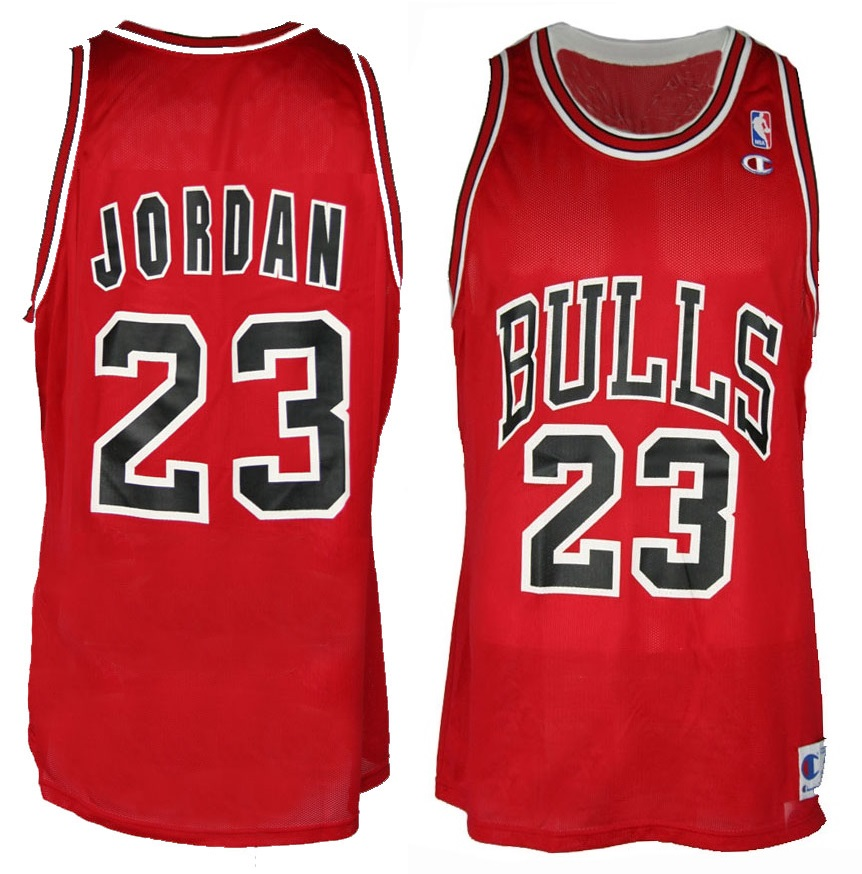brand new 00296 60d58 Champion Chicago Bulls jersey 23 Michael Air Jordan ...