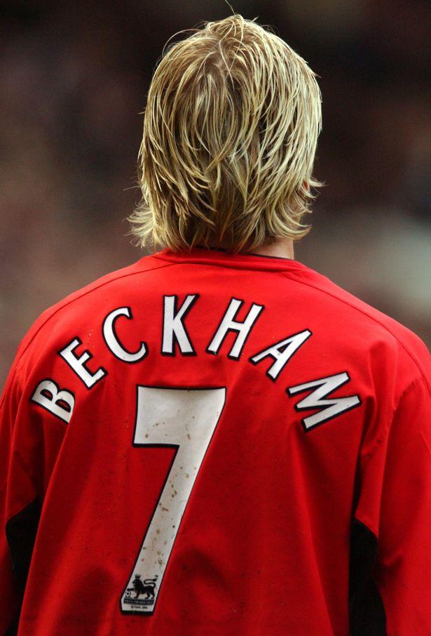 95f09a44d2ba6 Umbro Manchester United Jersey 7 David Beckham 2000/02 Vodafone home men's  XL